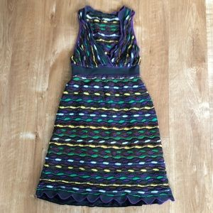 Missoni purple chevron knit dress 2